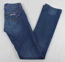 Hudson jeans Boot cut triangle flap pockets USA Made Blue Womens Size 26