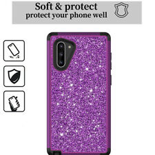 For Samsung Note10 S10 Plus Glitter Bling Protective Luxury Back Case Cover