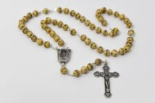 Lourdes Wooden Rosary Beads with a Lourdes Water Centre Catholic Rosaries