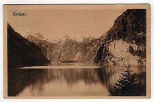 1900s KONIGSEE Konigssee GERMANY German PC Postcard BAVARIA Bayern BERCHTESGADEN