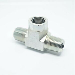 Steel 1/2 Npt Female to Male Reverse Branch Tee Pipe Fitting Fuel Air Oil Gas