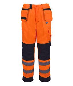 Hi Vis Hi Visibility Craftsman Combat Trouser - Hi Viz Orange - PCOMTR