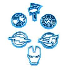 Marvel Cookie Cutter Set, Spiderman, Captain America, Iron Man, Avengers Set FI