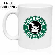POKEMON COFFEE, PIKACHU, Starbucks Parody,Birthday, Christmas,  Mug Gift 11 oz