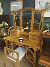 More details for gustave serrurier-bovy dressing table and matching stool.