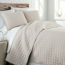 Ultra Soft Stitched Embroidered 3-Piece Quilt Set by Southshore Fine Linens