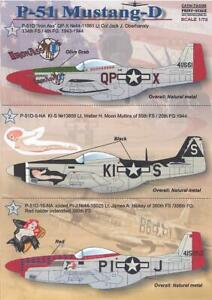 Print Scale Decals 1/72 NORTH AMERICAN P-51D MUSTANG Fighter