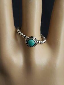 Sterling Silver PANDORA Turqoise Stone Ring