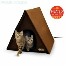 - OPEN BOX - K&H Manufacturing A-Frame Multi-Kitty Outdoor Heated Kitty House