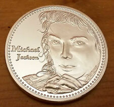 USA Michael Jackson (face image) Ltd Edition Silver Coin w signature - NEW
