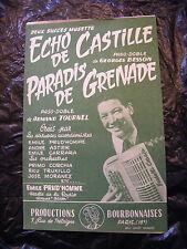 Eco di partizione di Castille Besson paradiso di Grenade Armand Tournel 1958