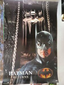 "BATMAN RETURNS - Keaton  RARE Orig. Vintage Poster / Exc. new cond.- 23 x 35"""