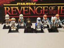 Captain REX 501st Anakin Ahsoka Tano lot 8 minifigures clone troopers Star Wars