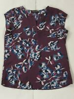 Ivanka Trump Womens Blouse Size XS Multicolor Floral Pattern Print Split-Neck