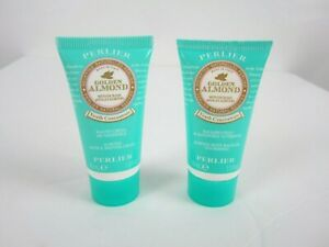 Perlier Golden Almond Mini Travel Set-1 oz Body Balm Oil, 1 oz Bath & Shower NEW