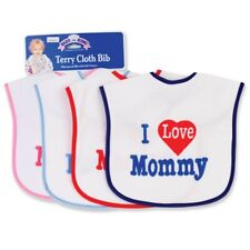 "Waterproof ""I love mommy"" Terry Cloth Bib with Self Closure (Print may vary)"