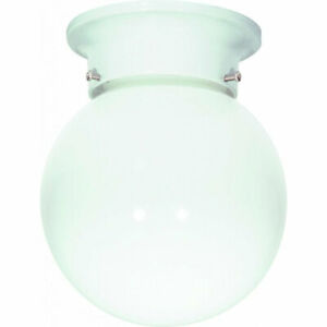Nuvo SF77/947 One Light Ceiling Fixture Flush Mount, White Glass  - NEW