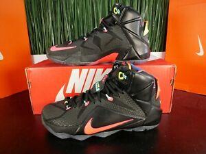 Nike Lebron XII 12 Elite Data Black Multicolor Mens Shoes 684593-068 Size 8