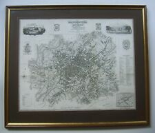 Manchester: street plan by Edward Baines, 1824