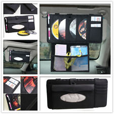 Car Sun Visor Organiser Cards Storage Bag Phone Pocket CD Pouch Tissue Holder AU