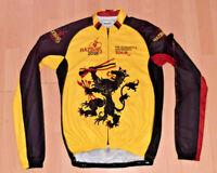 HAZBINS LION OF FLANDERS RETRO VINTAGE BIKE CYCLING LONG SLEEVE JERSEY - Size XL