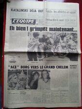 journal l'équipe 10/07/78 CYCLISME TOUR DE FRANCE 1978 LES RENAULT BJON BORG