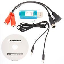 USB Flight Simulator Cable Adaptor for JR Futaba RC RealFlight Spektrum FMS Esky