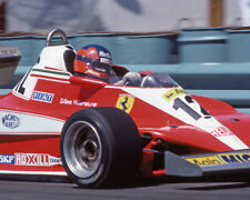 1978 Gilles Villeneuve FERRARI LONG BEACH CA FORMULA ONE F1 AUTO RACING PHOTO