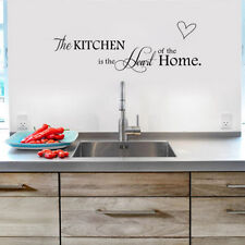 Kitchen Is the Heart of Home Wall Stickers Quote Removable Tile Wall Decals New