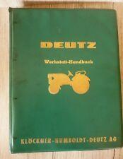 Original Deutz Werkstatt Handbuch Schlepper D 25 D 25 S D 25.1 D 25.1 S