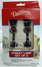 Lemax Vintage 2 Pc Victorian Lamp Street Village Accent Diorama Battery Operated