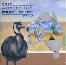Australia - 2012 - Map Shaped Coin Series - Emu 1oz Silver Coin