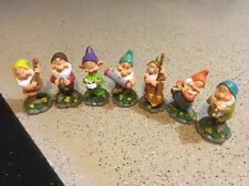 New listing Disney The Seven Dwarfs Garden Statues Gnomes Lot Of All 7