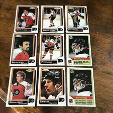 1986-87 O-Pee-Chee  PHILADELPHIA FLYERS 14 CARD TEAM SET.