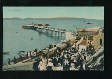 Wales Glamorgan Glam MUMBLES Pier & steam train PPC Used 1917 by Valentine