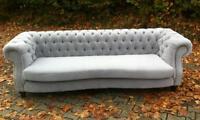 Couch Sofa Textil Samt Stoffsofa Polster BIG SOFA CHESTERFIELD XXL 250cm 4Sitzer