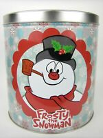 Frosty the Snowman Empty Popcorn Tin Can 64oz container Yay for Snow days