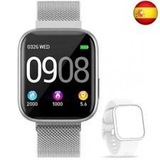 BANLVS Smartwatch Reloj Inteligente IP67 con Correa Reemplazable Pulsó  (Plata)