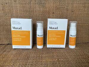 2 X 5ml Murad Environmental Shield Vita-C Eyes Dark Circle Corrector Sample 10ml
