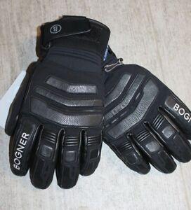 Bogner Herren Teil Leder Ski Handschuh AGIMO Schwarz Größe 8,5 S M oder 9 M Neu