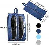 Portable Travel Shoe Bag Transparent Pouch Storage 4pcs Zip Organizer Waterproof