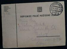 1938 Slovakia Postcard cancelled Nové Mesto nad Váhom to Prague