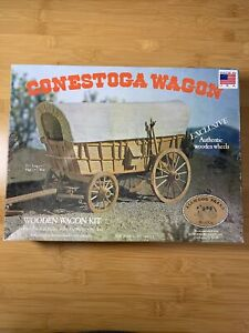 CONESTOGA WOODEN WAGON KIT - ALL WOOD BRAND - NO. 5012 VINTAGE 1977 OPEN 🐎AS IS