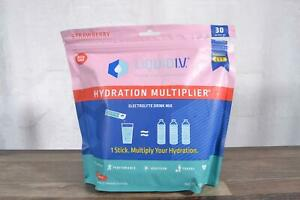 Liquid I.V. Hydration Multiplier Electrolyte Drink Mix Strawberry 30 Packets