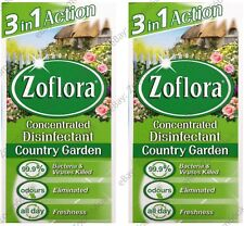 2x ZOFLORA 2x56ml ANTIBACTERIAL DISINFECTANT CLEANS CONCENTRATE - COUNTRY GARDEN