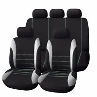 Gray+Black.Universal Car Seat Covers 9 Set Full Styling Seat Cover For 5-Seats