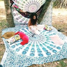 Multi Dekor indischen Twin Mandala Wandbehang Tapisserie Strand Decke werfen Art