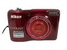 Nikon COOLPIX L28 20.1MP Digital Camera - Red TESTED!