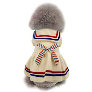 Cute Bowknot Dog Winter Dress Clothes Girl Warm Coat Jacket for XXS XS Small Dog