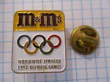 PINS RARE M&Ms WORLDWIDE SPONSOR 1992 OLYMPIC GAMES BARCELONA SPAIN m1